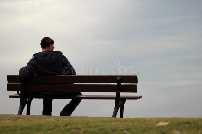 L'homme seul image stock