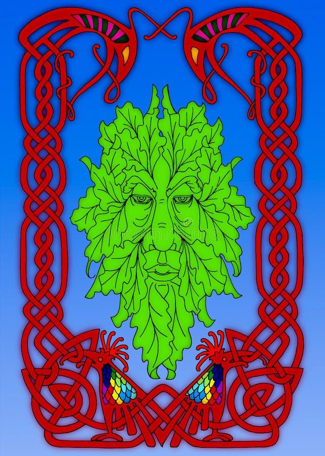 L'homme vert mythique irlandais photo stock