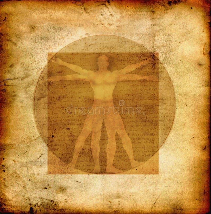 L'homme vitruvian de Da Vinci illustration stock