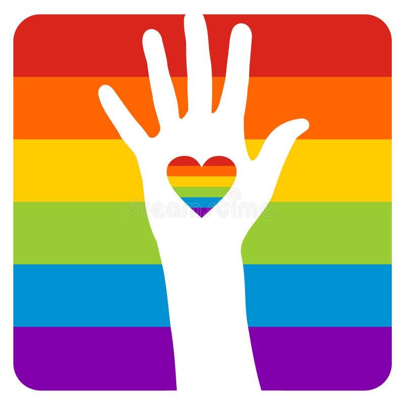 l'homosexuel d'indicateur remettent illustration de vecteur