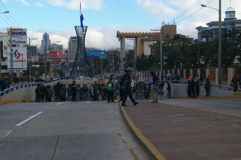 L'Honduras marcia di protesta gennaio 2018 Tegucigalpa, Honduras 15 fotografia stock