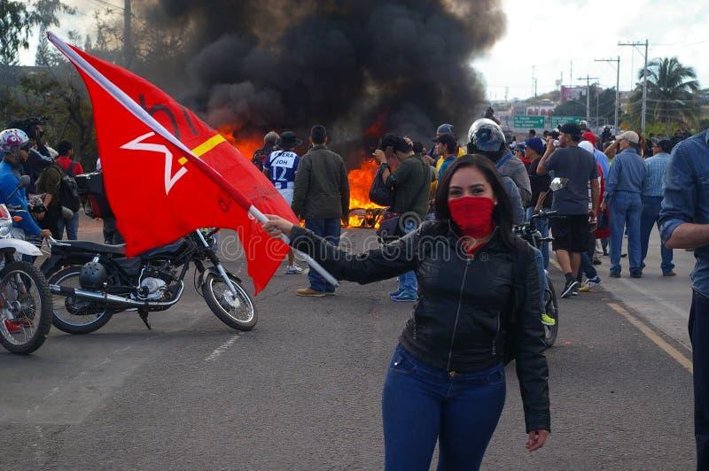 L'Honduras marcia di protesta gennaio 2018 Tegucigalpa, Honduras 13 immagine stock libera da diritti