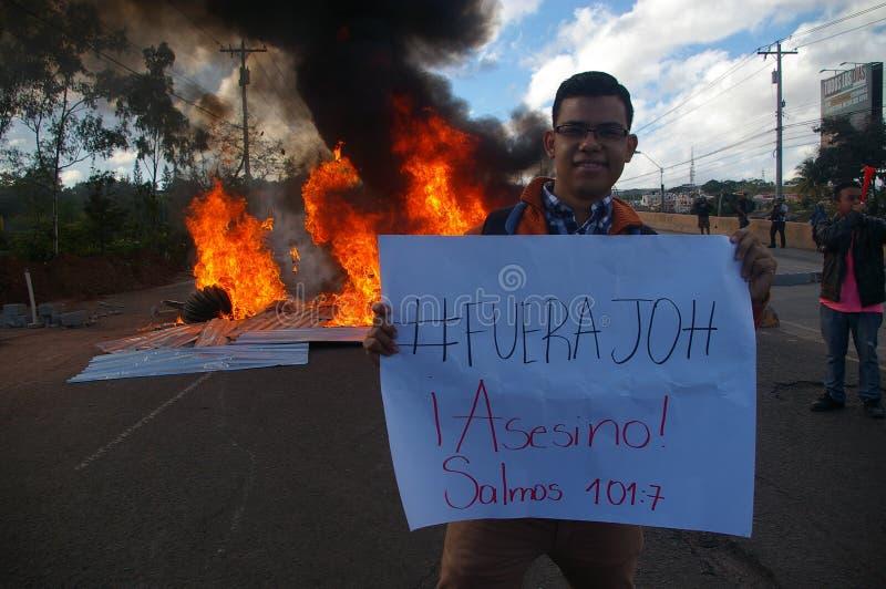 L'Honduras marcia di protesta gennaio 2018 Tegucigalpa, Honduras 12 fotografia stock