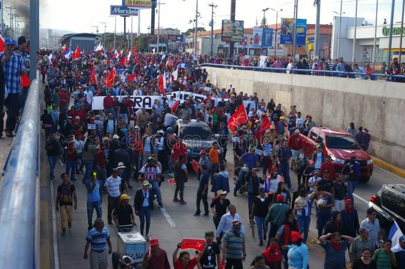 L'Honduras marcia di protesta gennaio 2018 Tegucigalpa, Honduras 10 fotografie stock libere da diritti