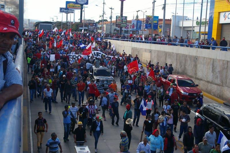 L'Honduras marcia di protesta gennaio 2018 Tegucigalpa, Honduras 8 fotografia stock libera da diritti