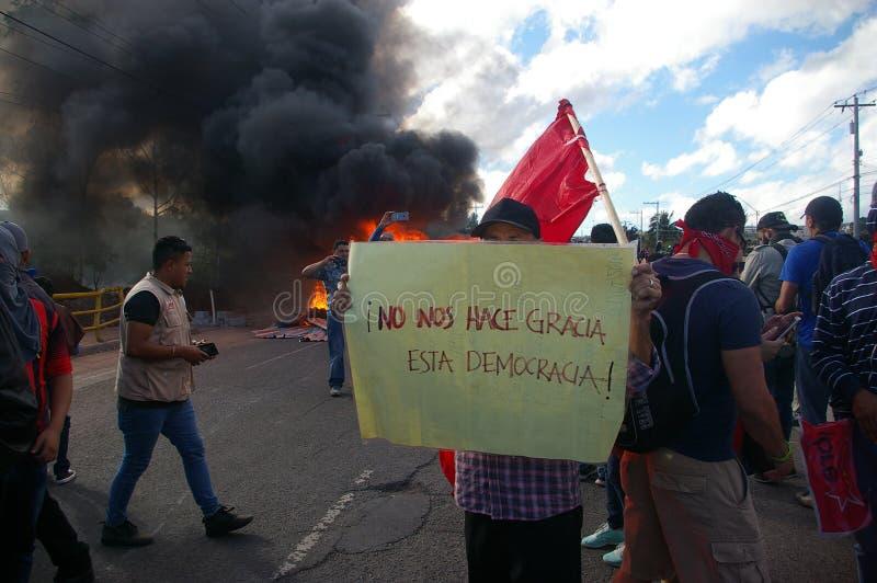 L'Honduras marcia di protesta gennaio 2018 Tegucigalpa, Honduras 7 immagine stock libera da diritti