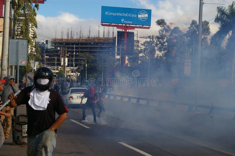 L'Honduras marcia di protesta gennaio 2018 Tegucigalpa, Honduras 4 immagini stock libere da diritti