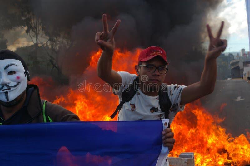 L'Honduras marcia di protesta gennaio 2018 Tegucigalpa, Honduras 3 fotografie stock
