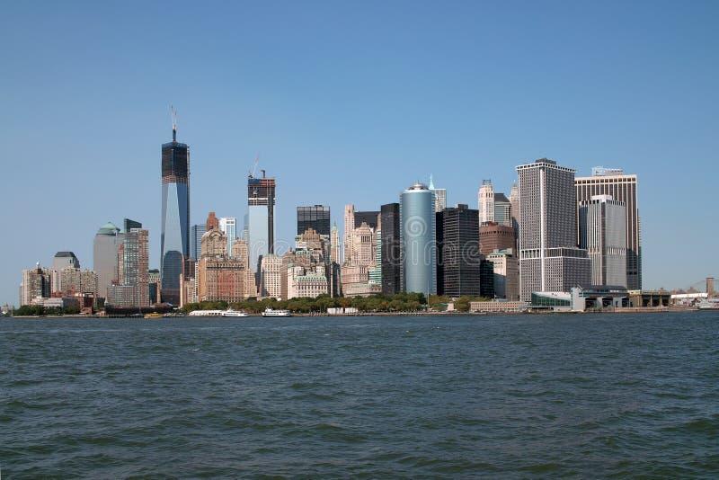 L'horizon changeant New York City de Manhattan photos stock
