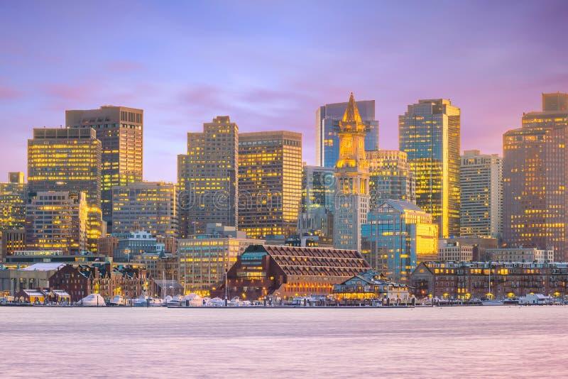L'horizon de Boston dans le Massachusetts, Etats-Unis images stock
