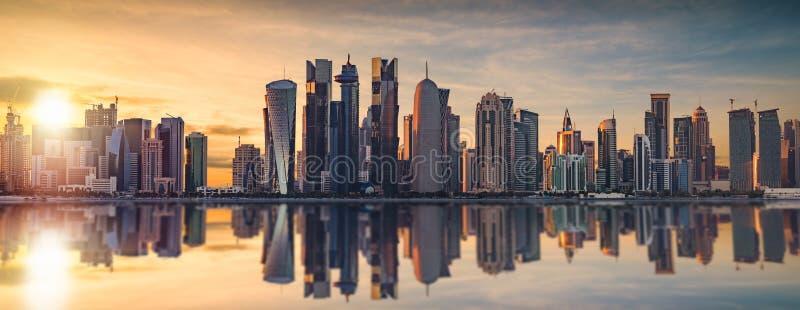 L'horizon de Doha photographie stock