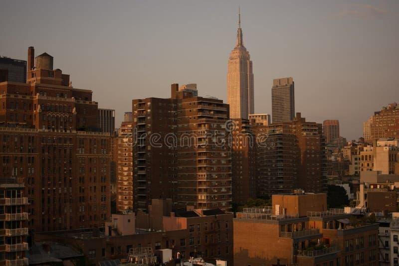 L'horizon de Manhattan photo libre de droits