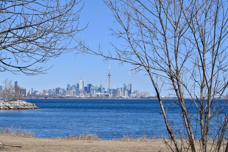 L'horizon de Toronto un jour du ` s de Sunny Winter images libres de droits