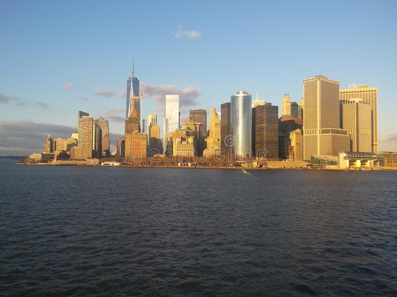 L'horizon du Lower Manhattan photo stock