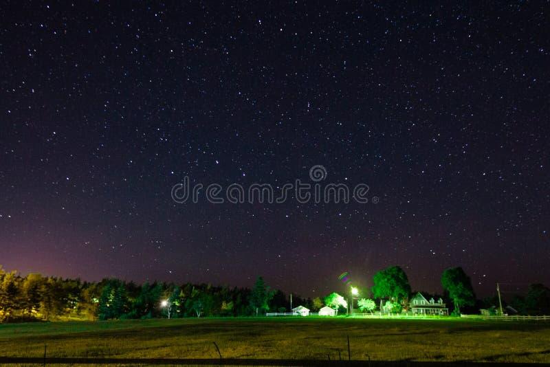 L'horizontal de nuit image stock