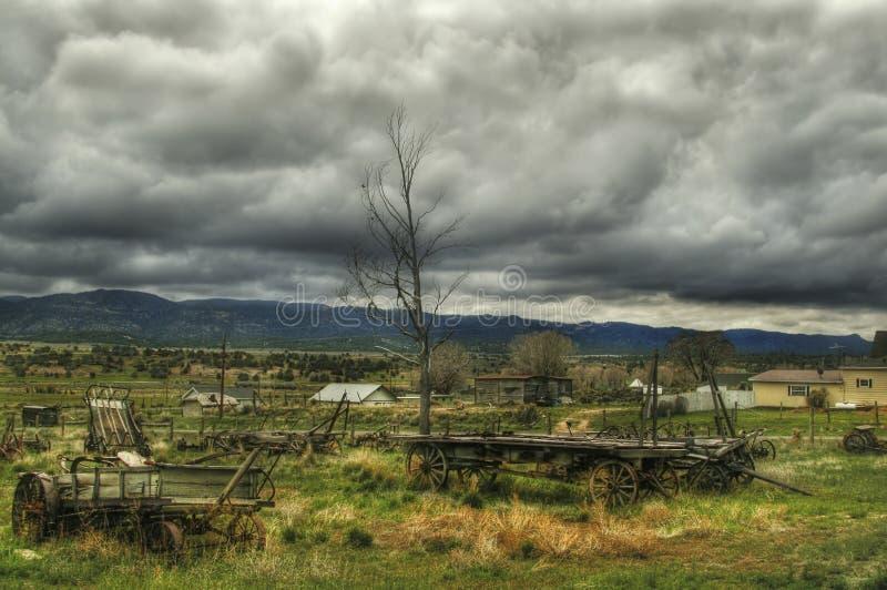L'horizontal des fermiers de l'Utah images libres de droits