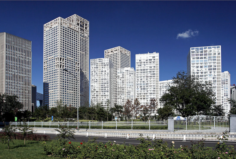 L'horizontal urbain de Pékin photos stock
