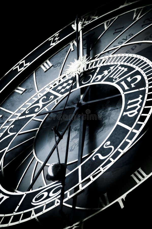 Horloge astronomique, Prague, signe de zodiaque photographie stock libre de droits
