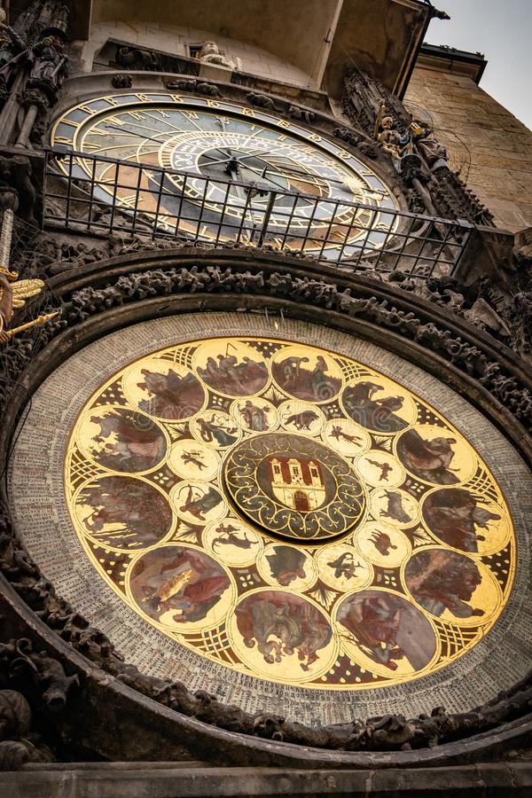 L'horloge astronomique de Prague, ou orloj de Prague photo libre de droits
