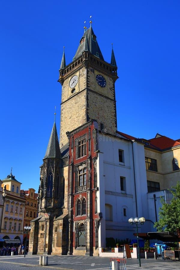 L'horloge astronomique, vieux hôtel de ville, Prague, République Tchèque photo libre de droits