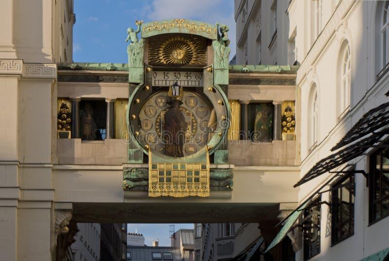 L'horloge d'Anker à Vienne photo libre de droits