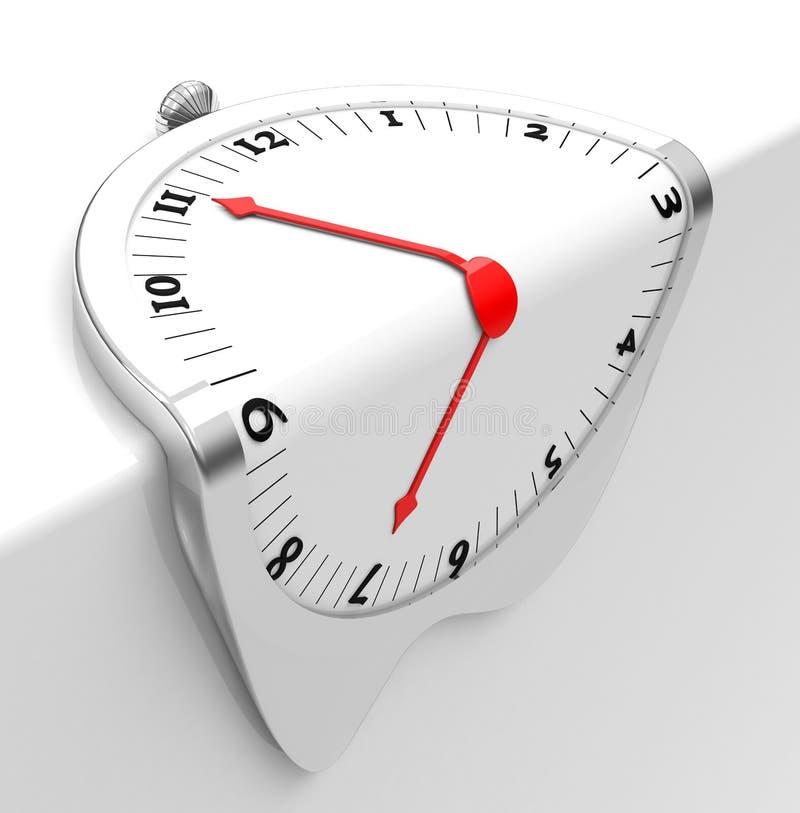 L'horloge de fonte illustration libre de droits