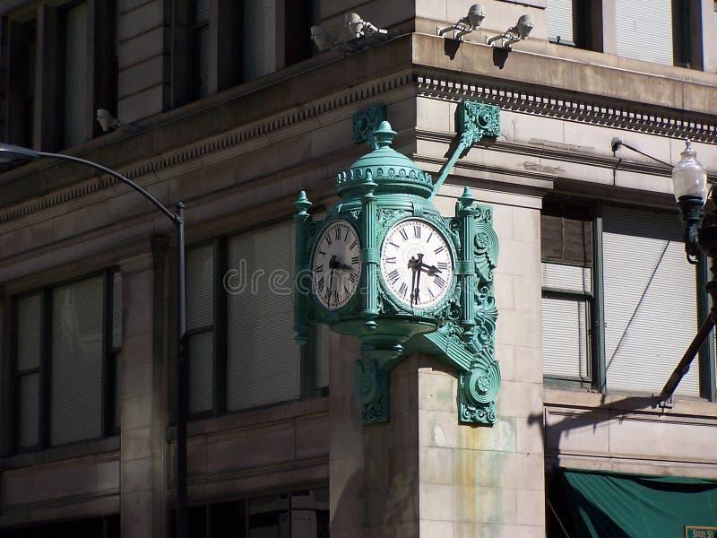 L'horloge de la zone de Marshall, Chicago photos libres de droits