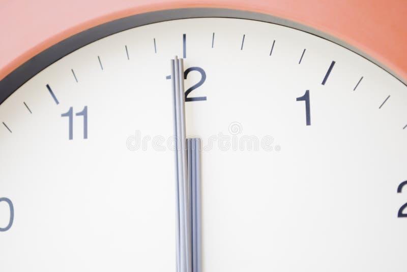 L'horloge heurte le minuit photos libres de droits