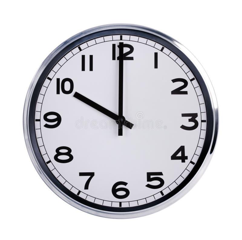 l 39 horloge ronde de bureau montre dix heures photo stock image du horloge timer 35734956. Black Bedroom Furniture Sets. Home Design Ideas