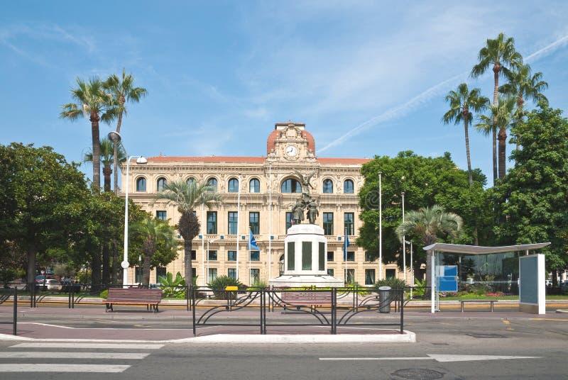 L'hotel de Ville a Cannes fotografia stock libera da diritti