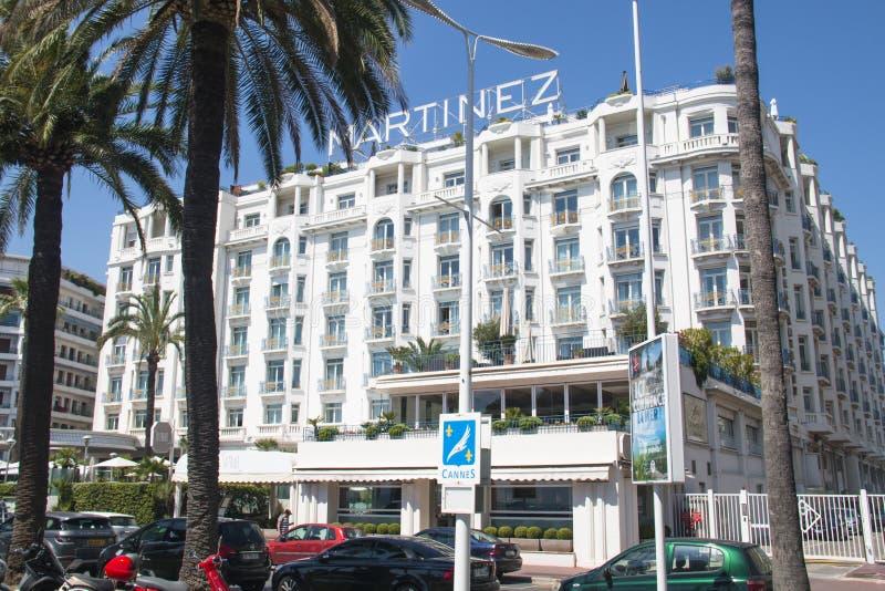 L'hotel di Martinez a Cannes, Francia immagine stock libera da diritti