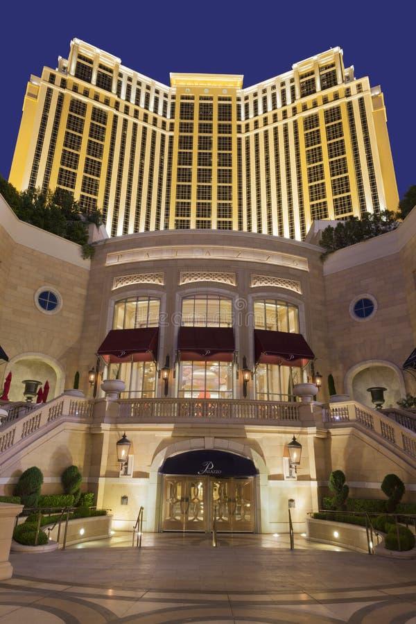 L'hotel di Palazzo alla notte a Las Vegas, NV il 30 aprile 2013 fotografia stock libera da diritti