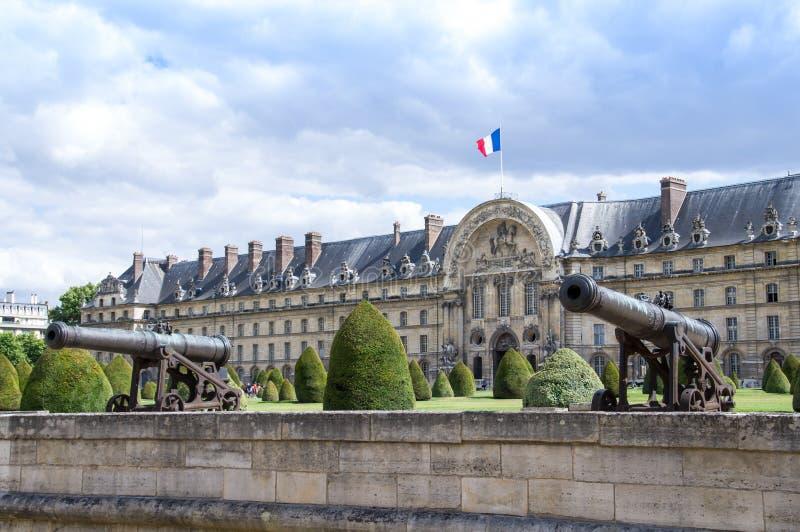 L'Hotel obywatela des Invalides w Paryż obrazy royalty free