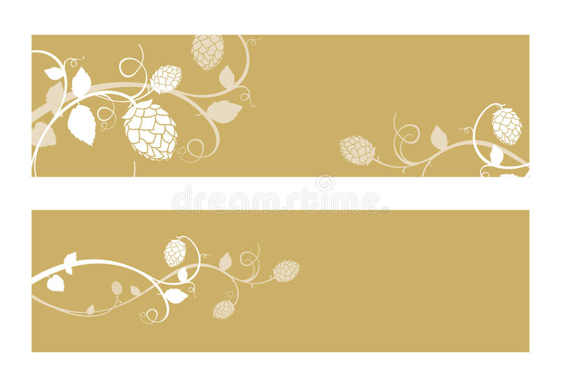 L'houblon fleurit la composition. illustration de vecteur