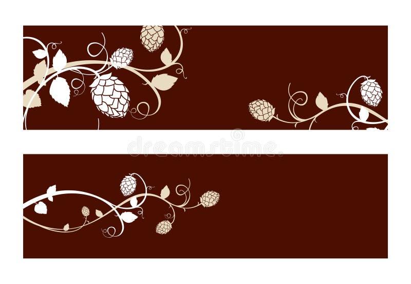 L'houblon fleurit la composition. illustration stock