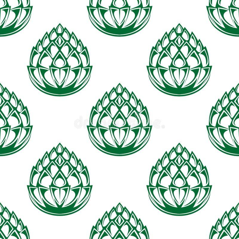 L'houblon fleurit modèle sans couture illustration libre de droits