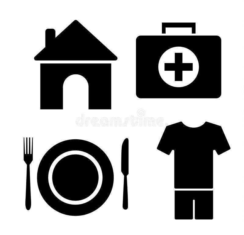 l'humain a besoin de l'ensemble d'icône illustration de vecteur