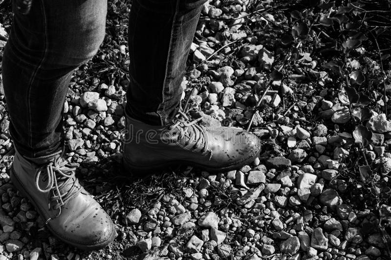 L'humidité tombe sur vos chaussures photo stock