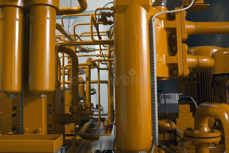 L'hydraulique industrielle photo stock