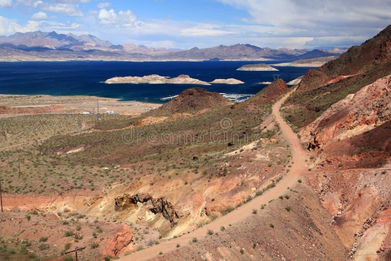 L'hydromel de barrage et de lac de Hoover photographie stock libre de droits