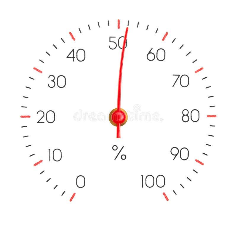 L'hygromètre affiche l'humidité 51% photos stock