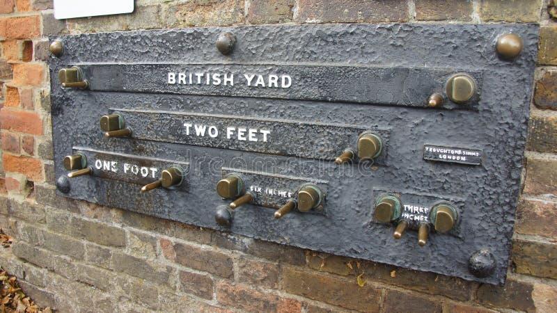 L'iarda britannica sull'osservatorio reale vicino a Londra immagine stock libera da diritti