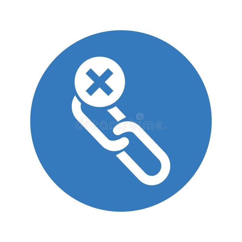 L'icône à chaînes de coupure/chaîne cassée/enlèvent le lien illustration de vecteur
