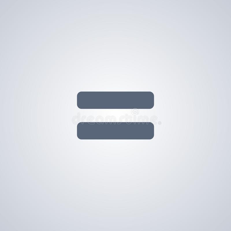 L'icône égale, dirigent la meilleure icône plate illustration stock