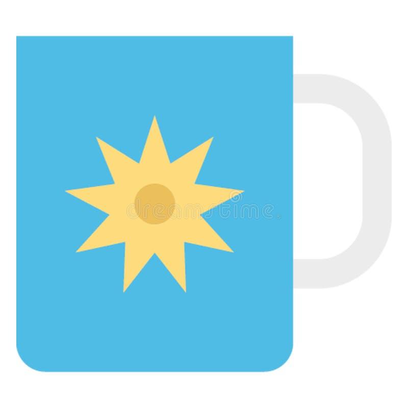 L'icône chaude de vecteur de couleur de thé facilement modifient ou éditent image stock