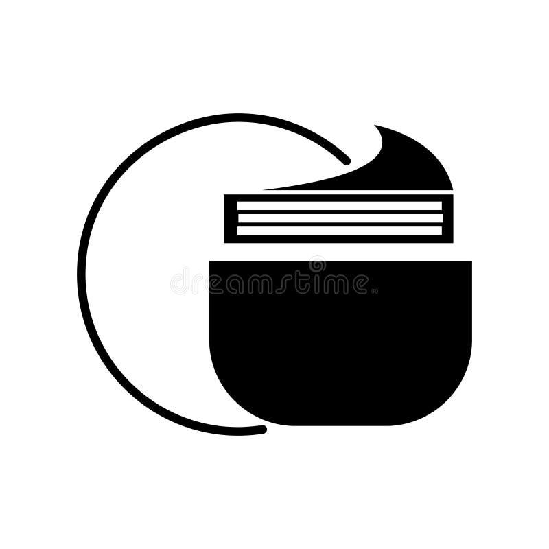 L'icône crème de tube, illustration de vecteur, noir se connectent le fond d'isolement illustration stock
