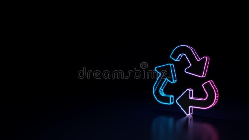 l'icône 3d de réutilisent le symbole illustration libre de droits