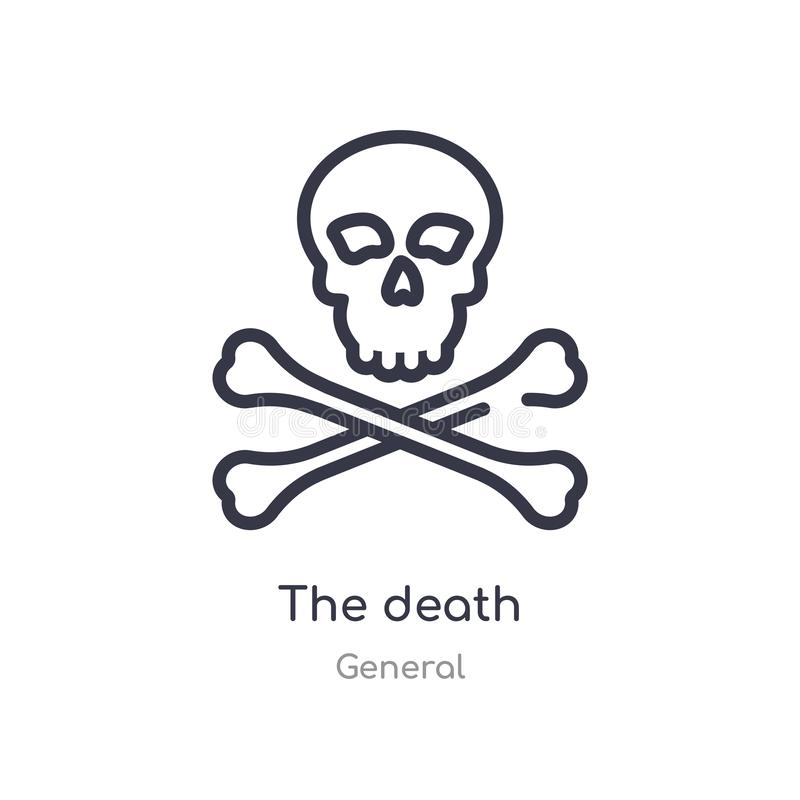 l'icône d'ensemble de la mort ligne d'isolement illustration de vecteur de la collection g?n?rale course mince editable l'icône d illustration de vecteur