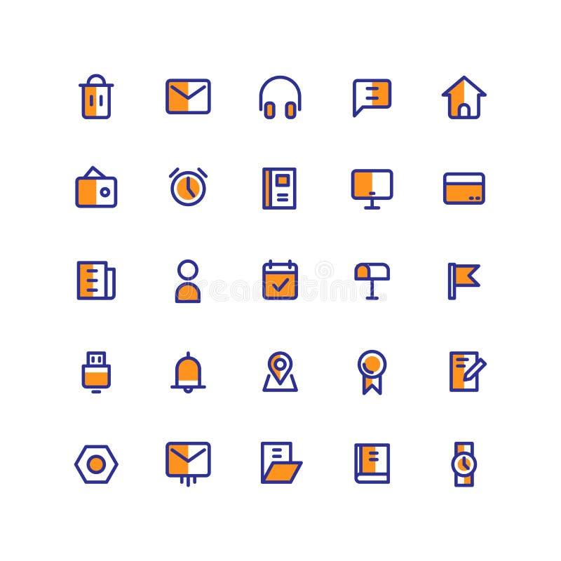L'icône d'interface utilisateurs place le vecteur rempli illustration stock