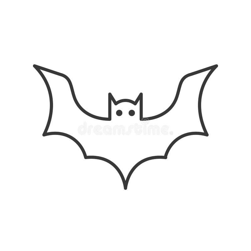 L'icône de batte, Halloween a rapporté le caractère, course editable illustration stock